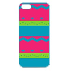 Chevrons And Stripes  			apple Seamless Iphone 5 Case (color) by LalyLauraFLM