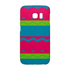 Chevrons And Stripes  			samsung Galaxy S6 Edge Hardshell Case by LalyLauraFLM