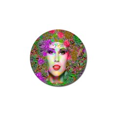 Flowers In Your Hair Golf Ball Marker by icarusismartdesigns