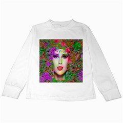 Flowers In Your Hair Kids Long Sleeve T Shirts by icarusismartdesigns