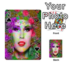 Flowers In Your Hair Playing Cards 54 Designs