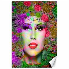Flowers In Your Hair Canvas 12  X 18   by icarusismartdesigns