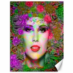 Flowers In Your Hair Canvas 36  X 48   by icarusismartdesigns