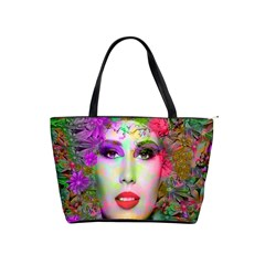 Flowers In Your Hair Shoulder Handbags by icarusismartdesigns