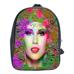 Flowers In Your Hair School Bags(large)  by icarusismartdesigns