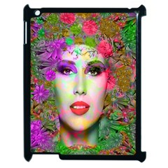 Flowers In Your Hair Apple Ipad 2 Case (black) by icarusismartdesigns