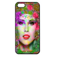 Flowers In Your Hair Apple Iphone 5 Seamless Case (black)