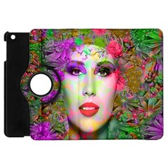 Flowers In Your Hair Apple Ipad Mini Flip 360 Case by icarusismartdesigns