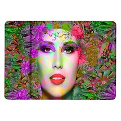 Flowers In Your Hair Samsung Galaxy Tab 10 1  P7500 Flip Case by icarusismartdesigns