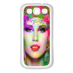 Flowers In Your Hair Samsung Galaxy S3 Back Case (white) by icarusismartdesigns