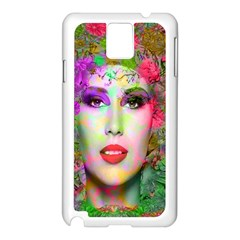 Flowers In Your Hair Samsung Galaxy Note 3 N9005 Case (white) by icarusismartdesigns