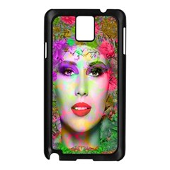 Flowers In Your Hair Samsung Galaxy Note 3 N9005 Case (black) by icarusismartdesigns