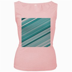 Teal And White Fun Women s Pink Tank Tops by timelessartoncanvas