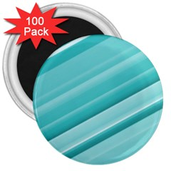 Teal And White Fun 3  Magnets (100 Pack) by timelessartoncanvas