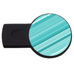 Teal And White Fun Usb Flash Drive Round (2 Gb)  by timelessartoncanvas