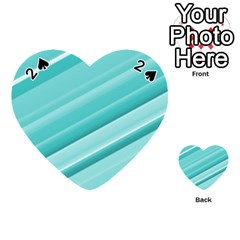 Teal And White Fun Playing Cards 54 (heart)  by timelessartoncanvas