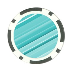 Teal And White Fun Poker Chip Card Guards by timelessartoncanvas