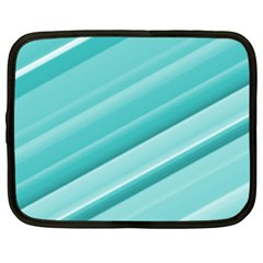Teal And White Fun Netbook Case (xl)