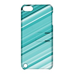 Teal And White Fun Apple Ipod Touch 5 Hardshell Case With Stand by timelessartoncanvas
