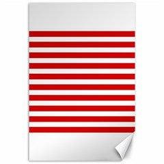 Red And White Stripes Canvas 24  X 36  by timelessartoncanvas