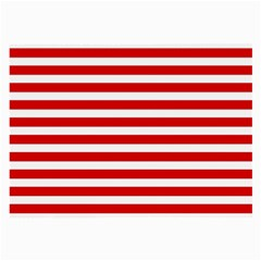 Red And White Stripes Large Glasses Cloth by timelessartoncanvas