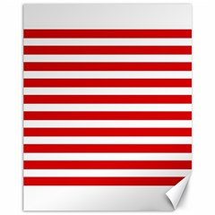 Red And White Stripes Canvas 11  X 14   by timelessartoncanvas