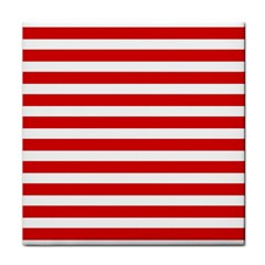 Red And White Stripes Face Towel by timelessartoncanvas