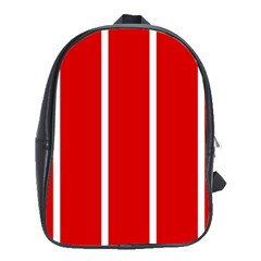 White And Red Stripes School Bags(large)  by timelessartoncanvas