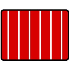 White And Red Stripes Double Sided Fleece Blanket (large)  by timelessartoncanvas