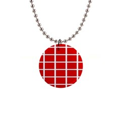 Red Cubes Stripes Button Necklaces by timelessartoncanvas
