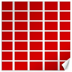 Red Cubes Stripes Canvas 16  X 16   by timelessartoncanvas