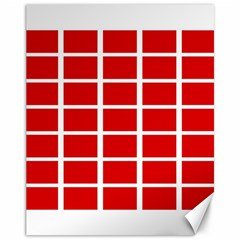 Red Cubes Stripes Canvas 11  X 14   by timelessartoncanvas