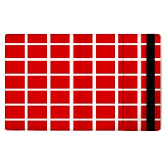 Red Cubes Stripes Apple Ipad 3/4 Flip Case by timelessartoncanvas