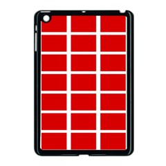 Red Cubes Stripes Apple Ipad Mini Case (black) by timelessartoncanvas
