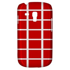 Red Cubes Stripes Samsung Galaxy S3 Mini I8190 Hardshell Case by timelessartoncanvas