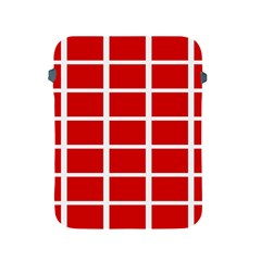 Red Cubes Stripes Apple Ipad 2/3/4 Protective Soft Cases by timelessartoncanvas