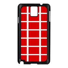 Red Cubes Stripes Samsung Galaxy Note 3 N9005 Case (black) by timelessartoncanvas