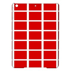 Red Cubes Stripes Ipad Air Hardshell Cases by timelessartoncanvas