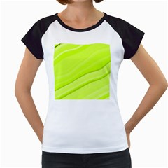 Bright Green Stripes Women s Cap Sleeve T by timelessartoncanvas