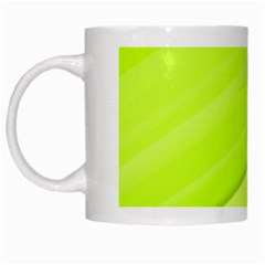 Bright Green Stripes White Mugs by timelessartoncanvas