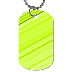 Bright Green Stripes Dog Tag (two Sides) by timelessartoncanvas