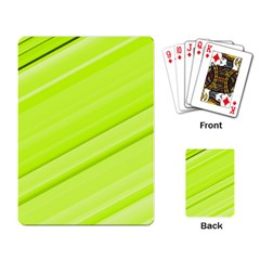 Bright Green Stripes Playing Card by timelessartoncanvas