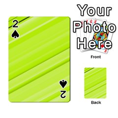 Bright Green Stripes Playing Cards 54 Designs  by timelessartoncanvas