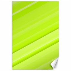Bright Green Stripes Canvas 12  X 18   by timelessartoncanvas