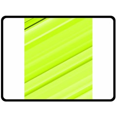 Bright Green Stripes Double Sided Fleece Blanket (large)  by timelessartoncanvas