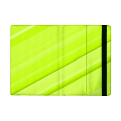 Bright Green Stripes Ipad Mini 2 Flip Cases by timelessartoncanvas