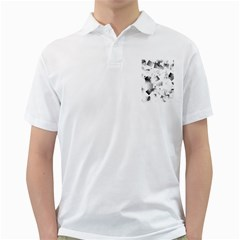 Gray And Silver Cubes Abstract Golf Shirts by timelessartoncanvas