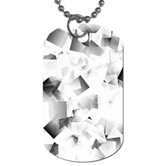 Gray And Silver Cubes Abstract Dog Tag (two Sides) by timelessartoncanvas
