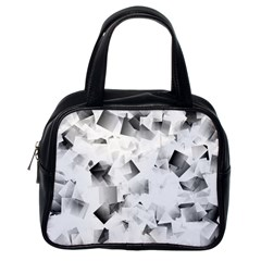Gray And Silver Cubes Abstract Classic Handbags (one Side) by timelessartoncanvas