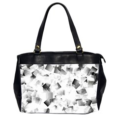 Gray And Silver Cubes Abstract Office Handbags (2 Sides)  by timelessartoncanvas